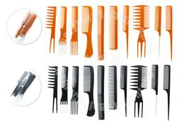 10 Piece Pro Salon Hair Styling Hairdressing Plastic Barbers