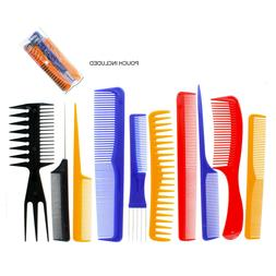 10 Piece Pro Salon Wet Hair Styling Hairdressing Plastic Bar