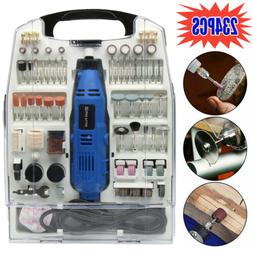 110 Pieces Accessories Variable Speed Rotary Tool Kit Grinde