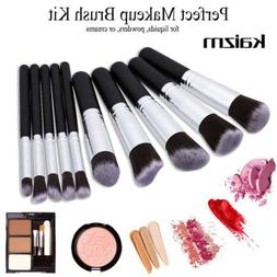 10Pcs Makeup Brush Set Cosmetic Powder Foundation Brushes Ka