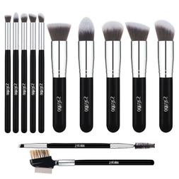 12pcs Kabuki Foundation Makeup Brush Sets Powder Eyeshadow E