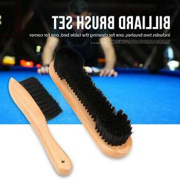 2pcs Billiards Pool Table Rail Brush Set Cleaning Tools Acce