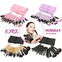 32pc Purple Professional Soft Cosmetic Eyebrow Shadow Makeup