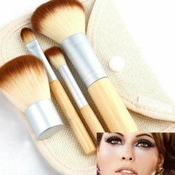 4 Pcs Pro Kabuki Makeup Brushes Set Foundation Powder Eyesha