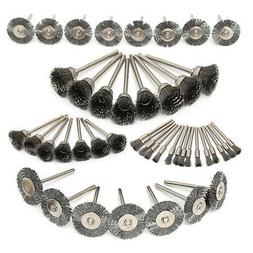 45Pcs Stainless Steel Wire Cup Mix Brush Set For Dremel Rota