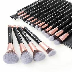 Anjou Makeup Brush Set, 16pcs Premium Cosmetic Brushes for F