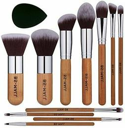 BS-MALL Bamboo Silver Premium Synthetic Kabuki Makeup Brush
