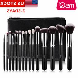 MSQ Professional 15PCs Makeup Brush Set Powder Cosmetic Tool