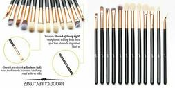 Qivange Eye Makeup Brushes Set, Synthetic Eyeshadow Black wi