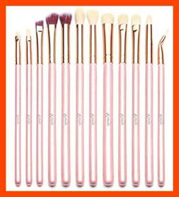 Qivange Eyeshadow Brushes 12PCS Eye Makeup Brush Set W Porta
