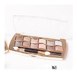 Fullkang New 12 Colors Women Pro Eyeshadow Shimmer Palette &