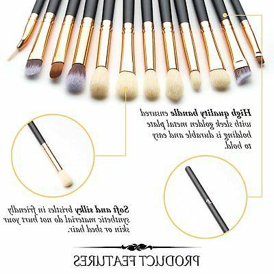 12 Brush Set Makeup Eyeliner Eyeshadow Brushes Professional Blending