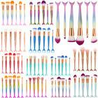 US Mermaid Brush Set Eyeshadow Brushes Cosmetic Makeup Brush