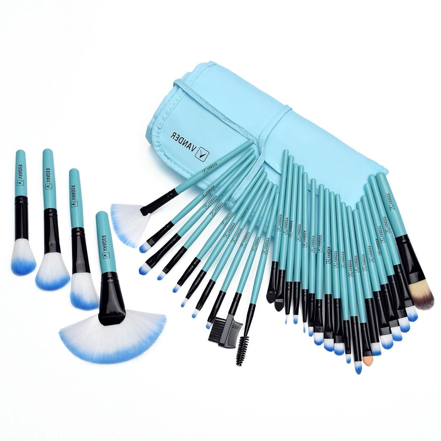 VANDER 32PC Eyebrow Shadow Makeup Brush Set Cosmetic Brushes