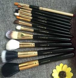 MAC makeup brush set +zipper  bag