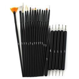 Glow 20 piece Nail Art Brushes and Nail Dotting Tools Set; B