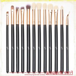New Qivange 12 Pcs Eye Brush Set Cosmetics Concealer Eyeline