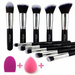 premium synthetic kabuki makeup brush set 10