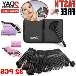 Professional Makeup Brush Set 32 Conjunto De Pinceles Para M