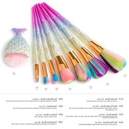 RNTOP 8PCS Pre Diamond Makeup Brush Set Dazzle Glitter Big F