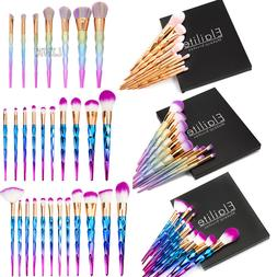 unicorn kabuki makeup brush set cosmetic foundation