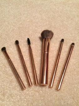 Urban Glow 6 Piece Make-Up Brushes in Copper/Rose Gold - BNW