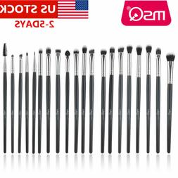 US 20pcs Professional Eyeshadow Makeup Brush Set Eyeliner Ey